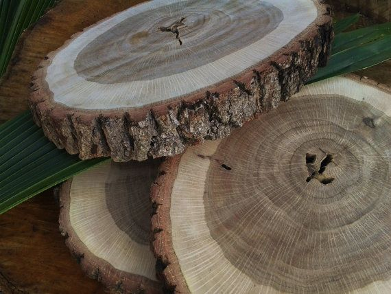 Natural Tree Trunk Slices LARGE By JTLCREATIONS On Etsy, $24.00 Centerpiece  Bases