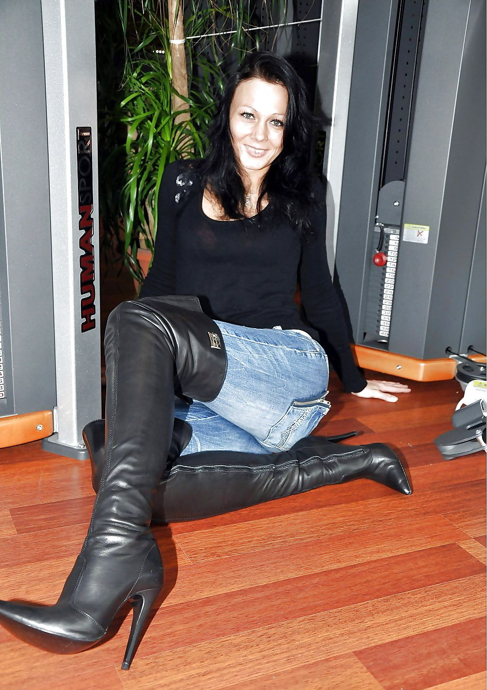 """Details about  /PLEASER Courtly-3017 5/"""" Heel Thigh-High Boot"""
