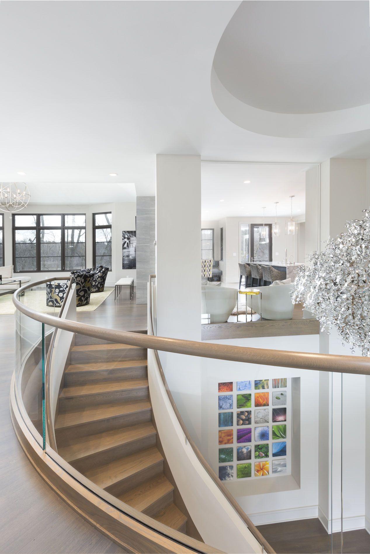 Best Curved Staircase Catwalk Karen Kempf Interiors Kki 400 x 300