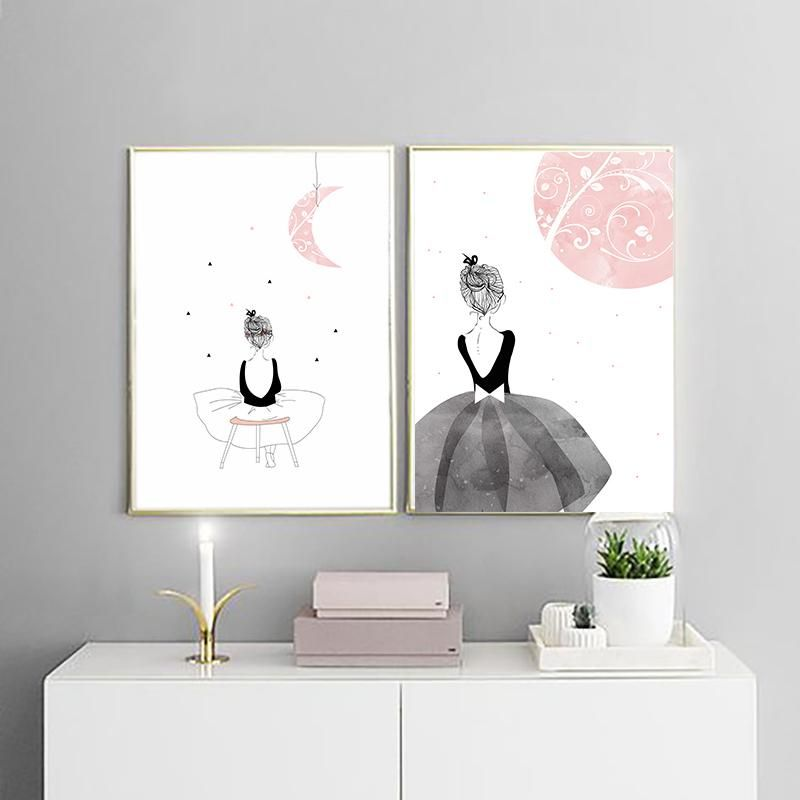 PINK FLAMINGOS CANVAS PRINT  PICTURE WALL ART VARIETY OF SIZES FREE UK P/&P