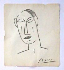 PABLO PICASSO -- A 1930s to 1940s ORIGINAL CUBIST DRAWING -- SUPERB & DISCOUNTED