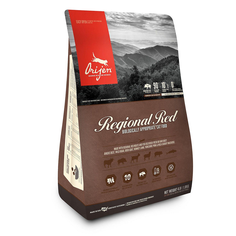 Orijen Regional Red Dry Cat Food 4 Lbs Dry Dog Food Dry Cat