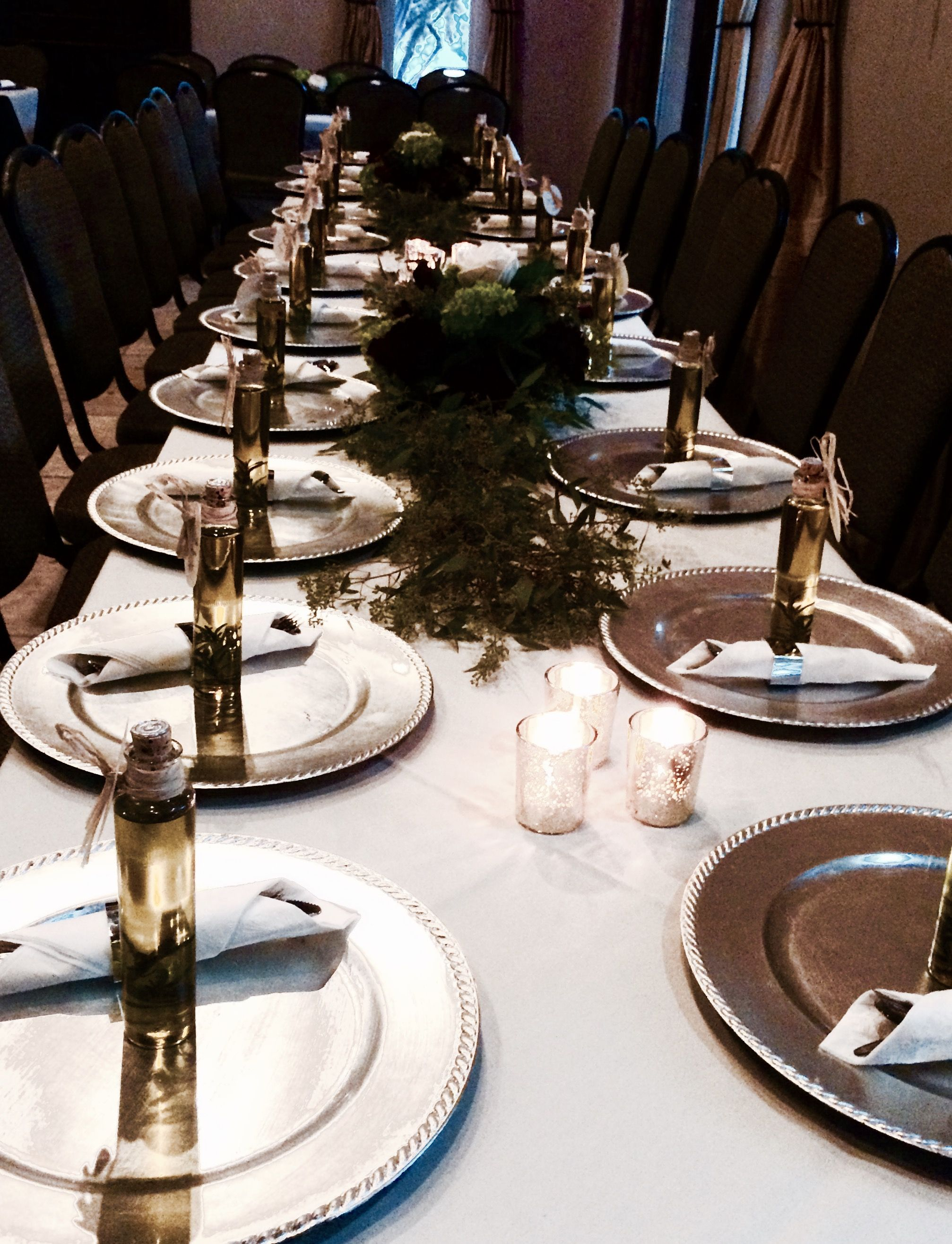 Beautiful table set up for this reception!
