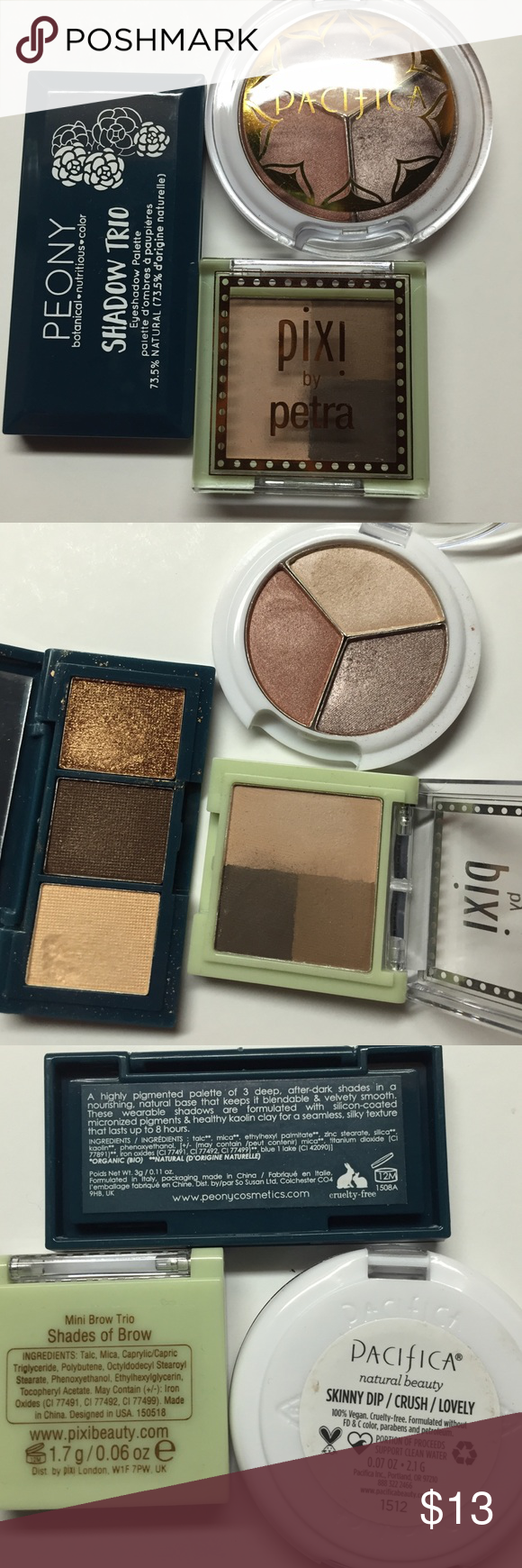 6 Natural Nude Eyeshadow 3 Brow Swatched Clean My Posh Picks Pixy Eyebrow Brown Pacifica Skinny Dip Crush Lovely