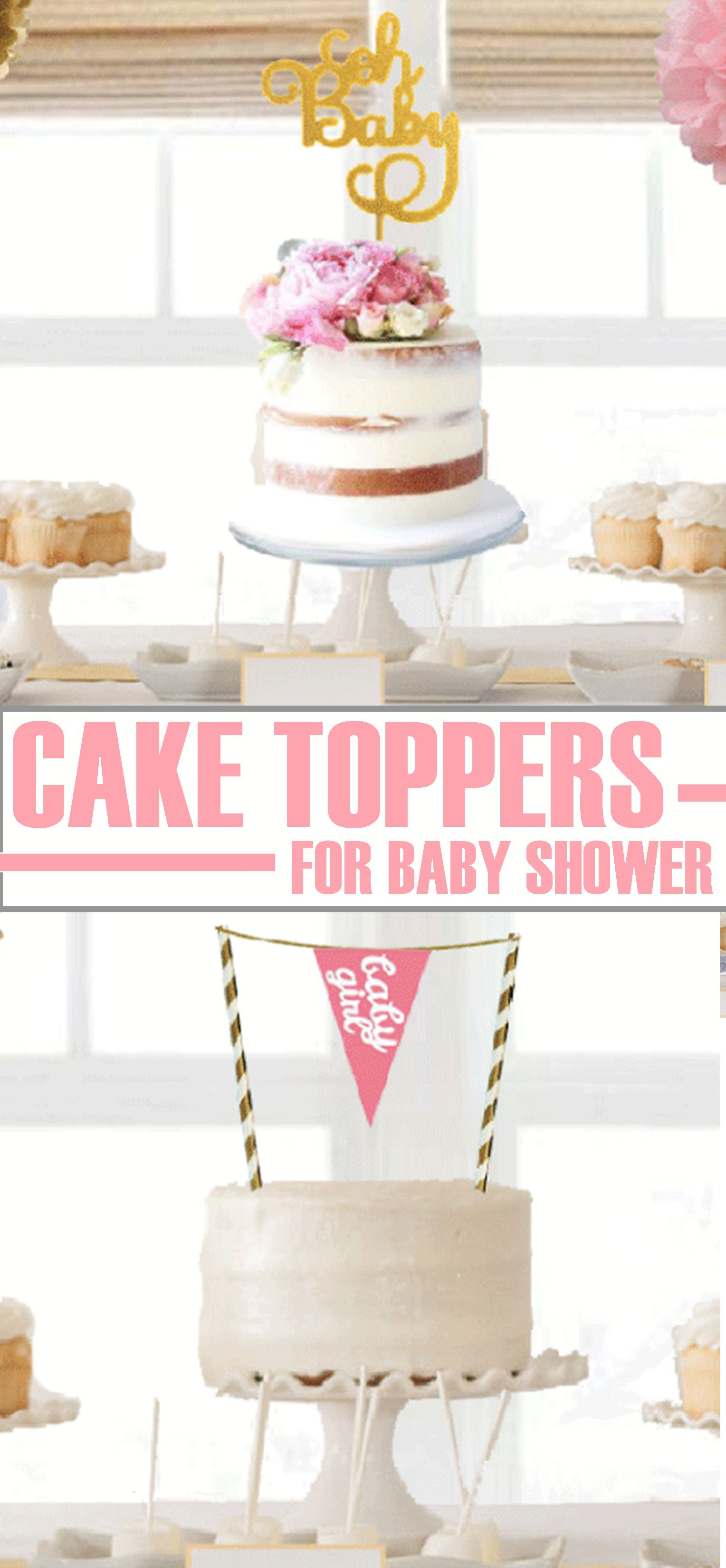 Baby Shower Cake Topper Ideas Pink And Gold Oh Baby It S A Girl