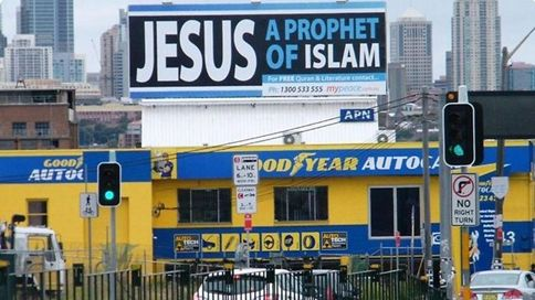 'Jesus prophet of Islam' billboard http://leojpeo.blogspot.in/2012/02/jesus-for-islam-as-for-catholics.html