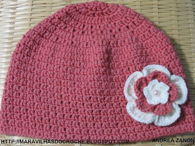 As Receitas de Crochê  GORRO DE CROCHE PARA ADULTO  c566333e63f