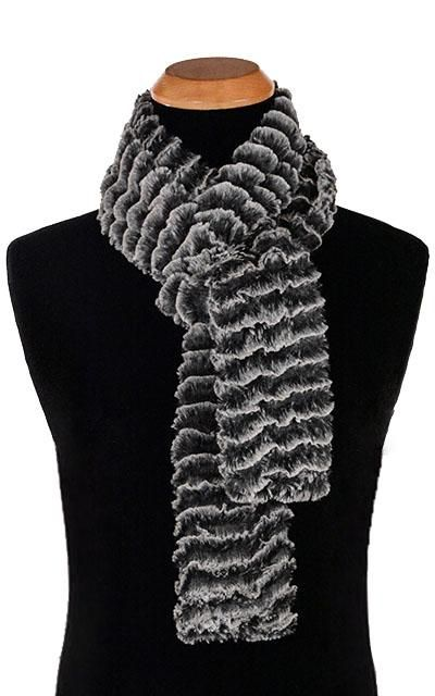 Photo of Men's Classic Scarf – Desert Sand Faux Fur