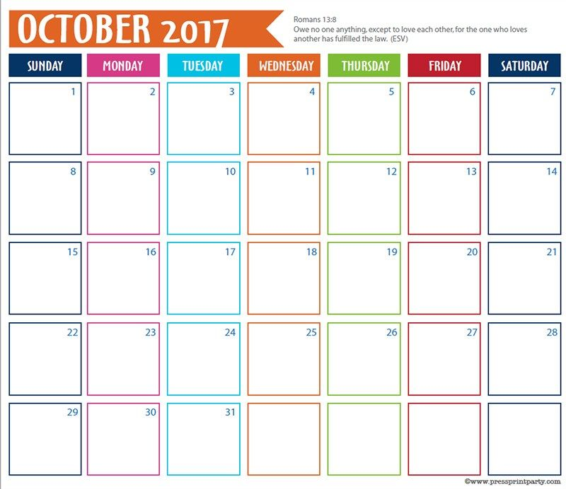 FREE 2018 Calendar for you Bullet Journal - By Press Print Party - countdown calendar template