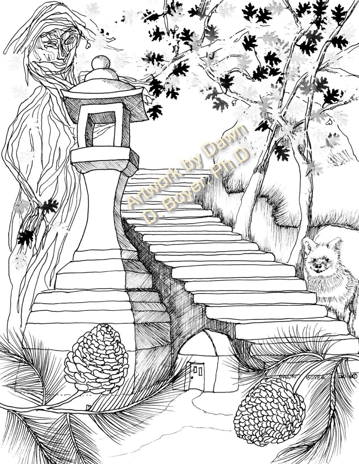 fairy houses and fairy doors vol 3 and 4 individual coloring pages from print books 5. Black Bedroom Furniture Sets. Home Design Ideas