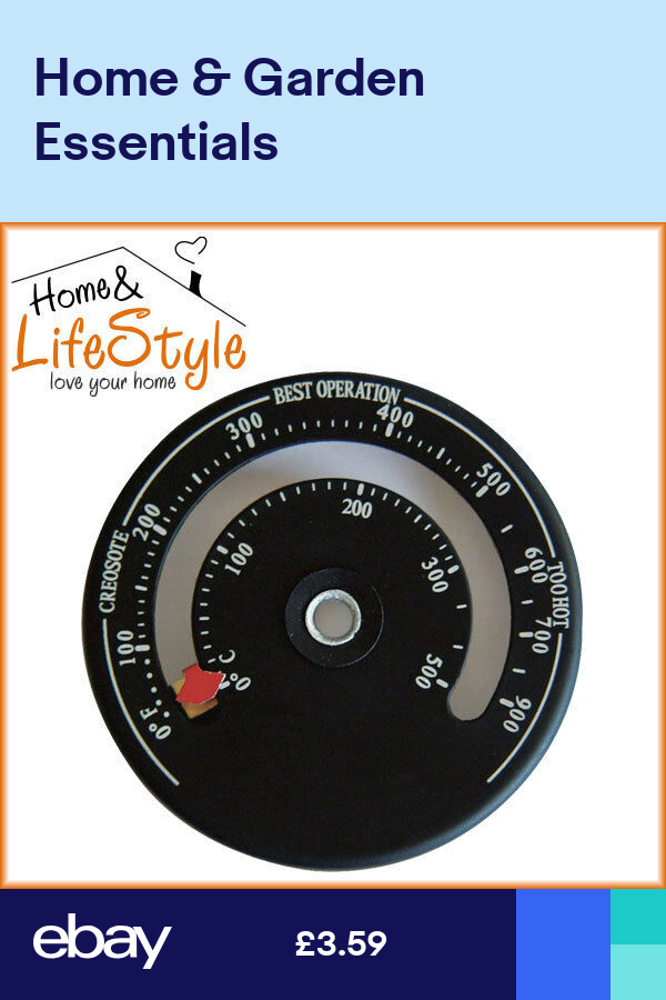 Stove Pipe Magnetic Thermometer Log Burning FIRE Flue Temperature Gauge Wood