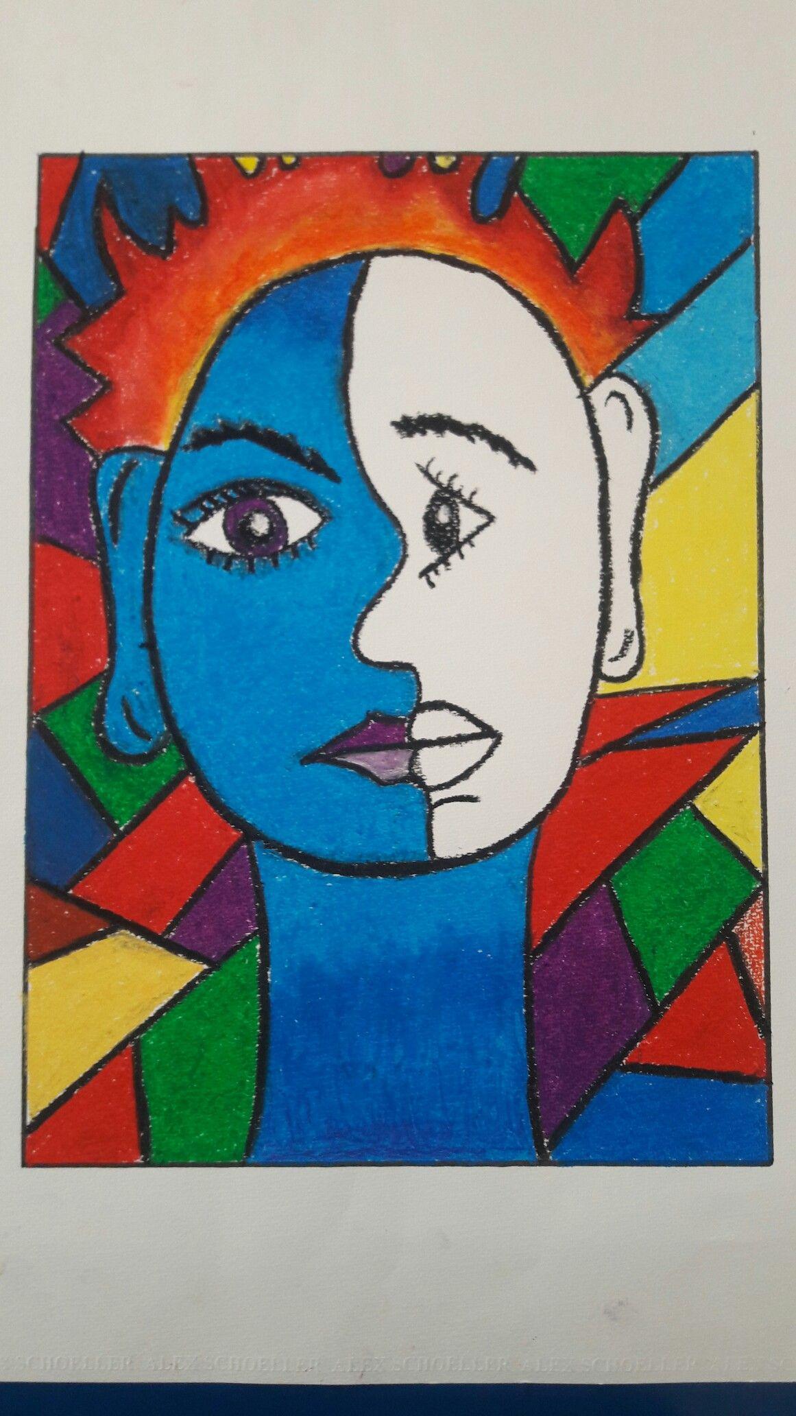 Picasso 3 Pastel Boya Tablo 50 Sanat Terapisi Pastel Boyalar Cizim Egitimleri
