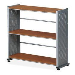 Mayline 5-Shelf Bookcase, 31-1/4-Inch, 11 by 58-Inch, Anthracite by Mayline Group. $129.78. Fixed shelves are made of vacuum-formed thermo foil. Bookcase design includes horizontal bars halfway between the shelves as backing. Perforated steel uprights feature a powder-coat finish. Fixed shelves are made of vacuum-formed thermofoil. Bookcase is a part of the May line East winds computer furniture collection that is designed for the technology-driven office and adapta...