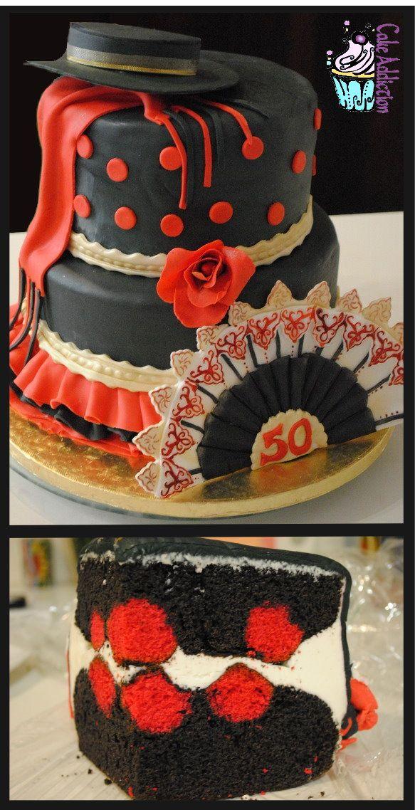 Flamenco Flamenco Cakes Pinterest Flamenco Cake And Birthday Cake