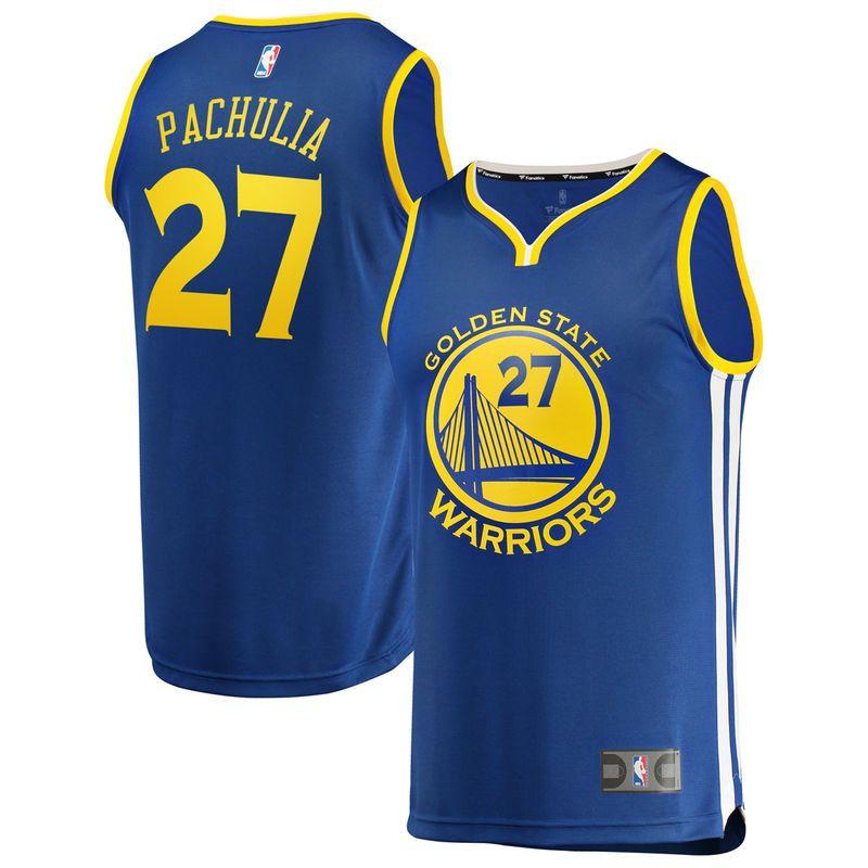 2282cf2e82d Men s Fanatics Branded Zaza Pachulia Royal Golden State Warriors Fast Break  Replica Player Jersey - Icon