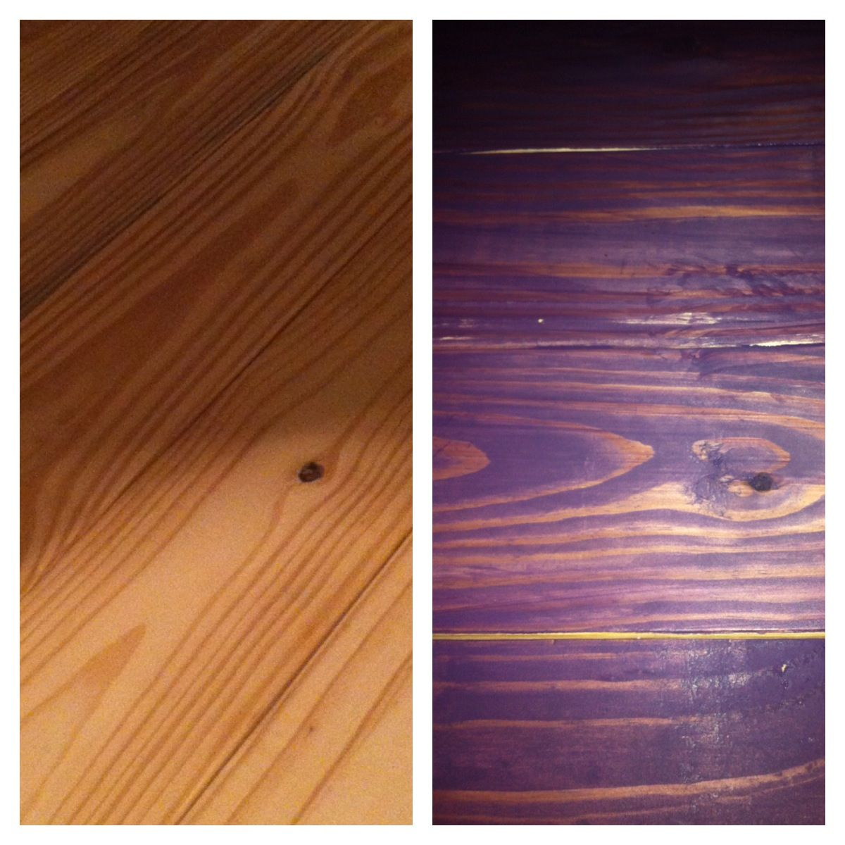 Purple Wood Stain