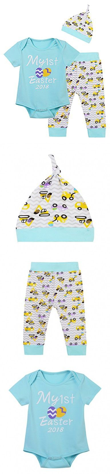One my first easter gift baby boys eggs printed bodysuit pants with truly one my first easter gift baby boys eggs printed bodysuit pants with hat 0 3 months negle Image collections