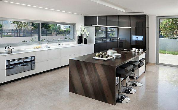 cuisine avec ilot de design moderne | Kitchen Spectacular ...