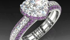 beautiful heart engagement rings