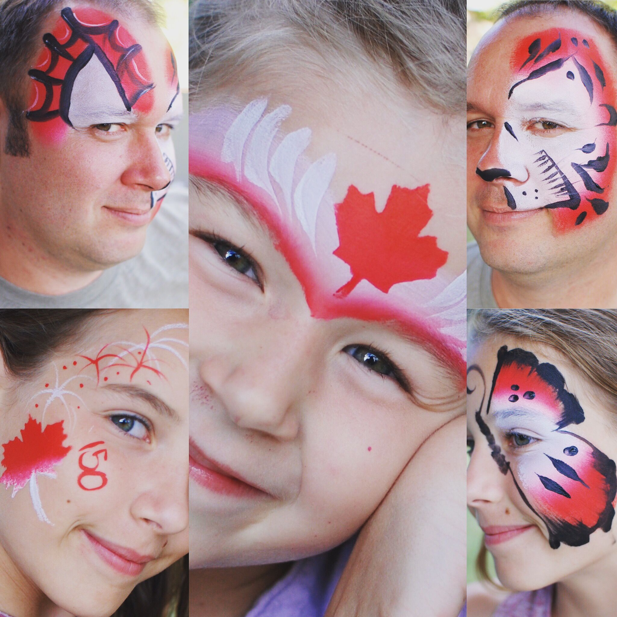 Canada day face paint by christine turpin face painting