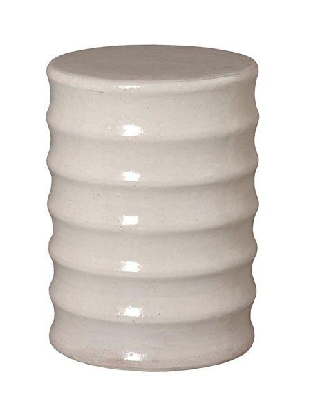 New Gray Ceramic Garden Stool