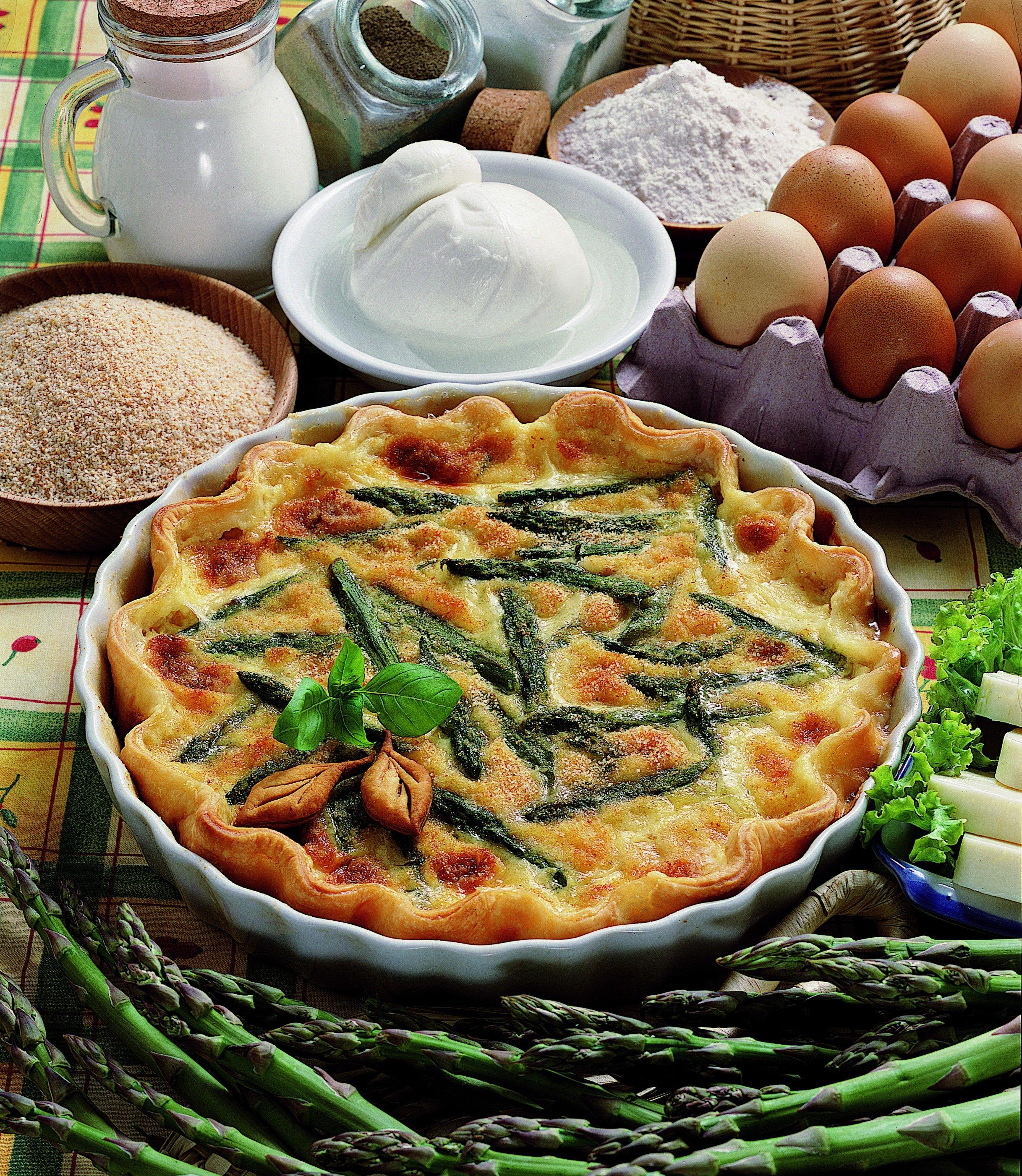 Quiche di asparagi e mozzarella - Scuola di cucina - Donna Moderna | Torte salate | Pinterest ...