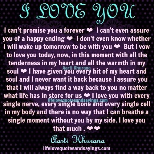 I Promise To Love You Quotes I Can't Promise You A Foreveri Can't Even Assure You Of A Happy