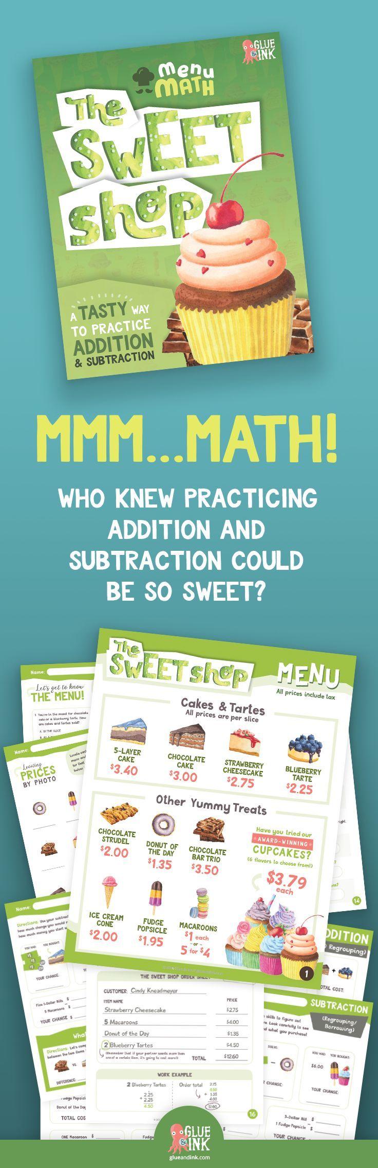 The Sweet Shop Menu Math – Addition & Subtraction | Math addition ...