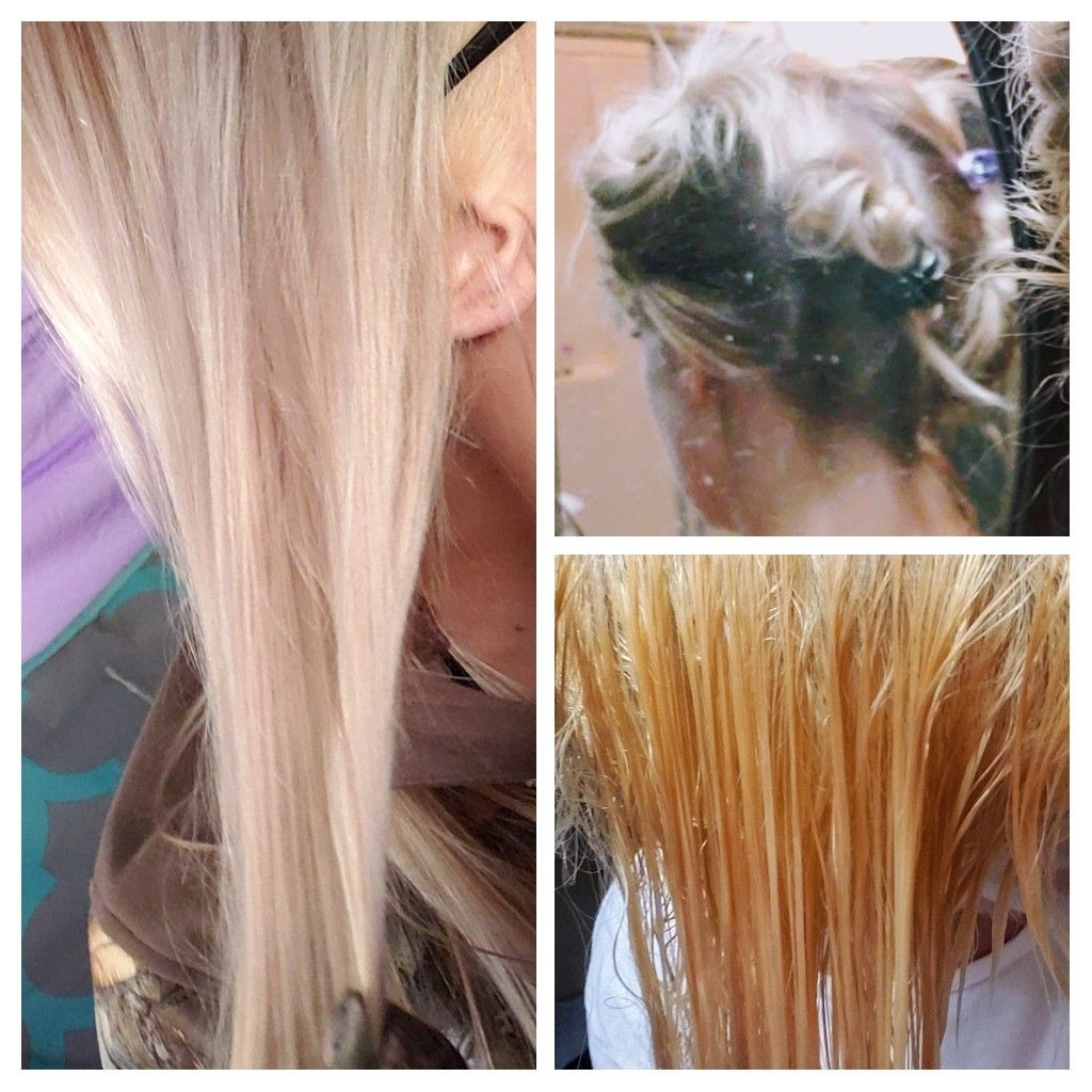Wella Blondor And Wella T18 Toner On Roots Touch Up Blondor For 30 Minutes T18 For 50 Minutes Bleached Hair Hair Blonde