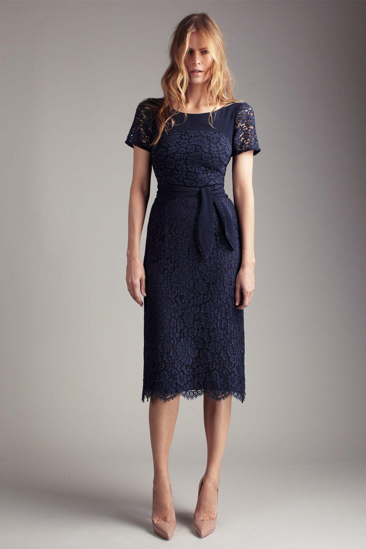 Lace dress navy  Christening dress  Baptism  Pinterest  Lace dress Navy and Cotton
