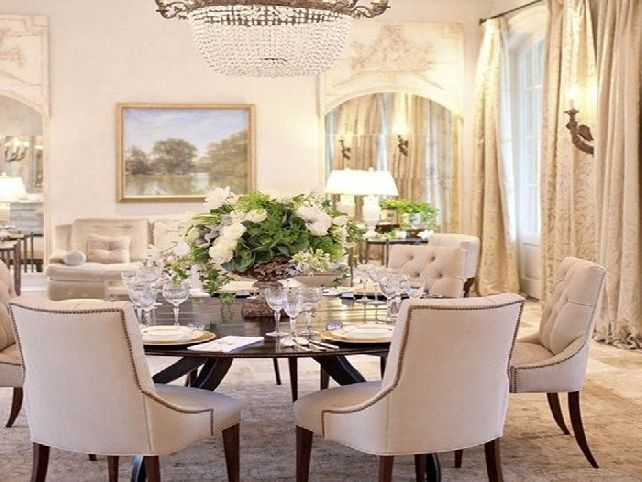 Round dining room table | Home: Dining Room | Pinterest | Dining ...