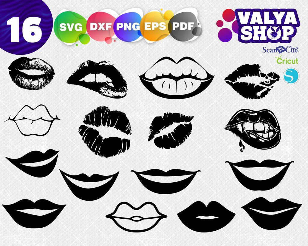 Lips Svg Kiss Svg Mouth Svg Love Svg Eps Png Svg Files T Shirt Designs Diy Vinyl Projects Distressed Tshirt Diy Svg