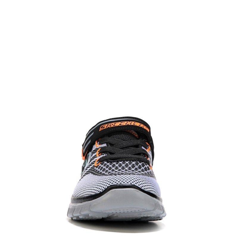Skechers Kids' Flex Master Mind Wide Sneaker Pre/Grade School Shoes (Black/ Grey)