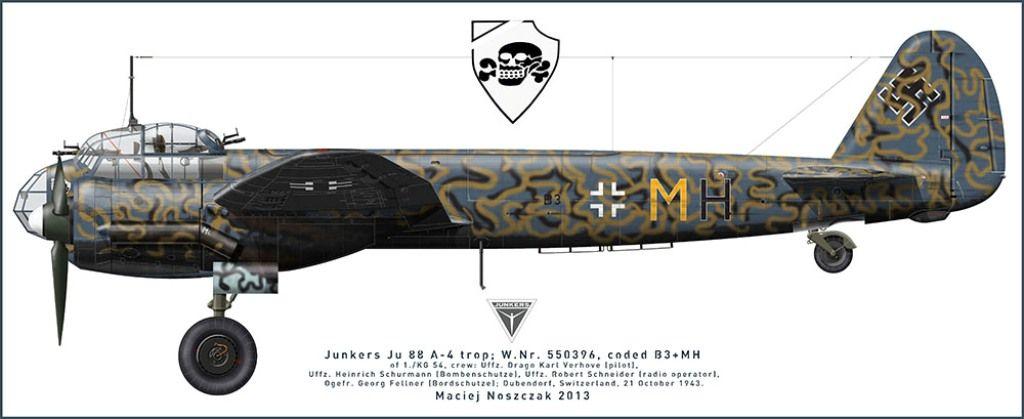 Bildergebnis für Ju-88 A4 paint scheme