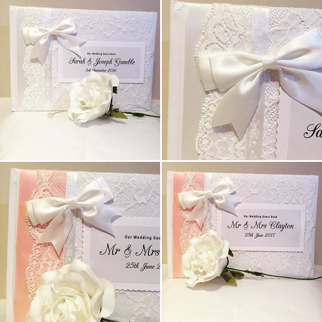 Baby pink & Ivory #personalised #wedding #guestbook made today ...