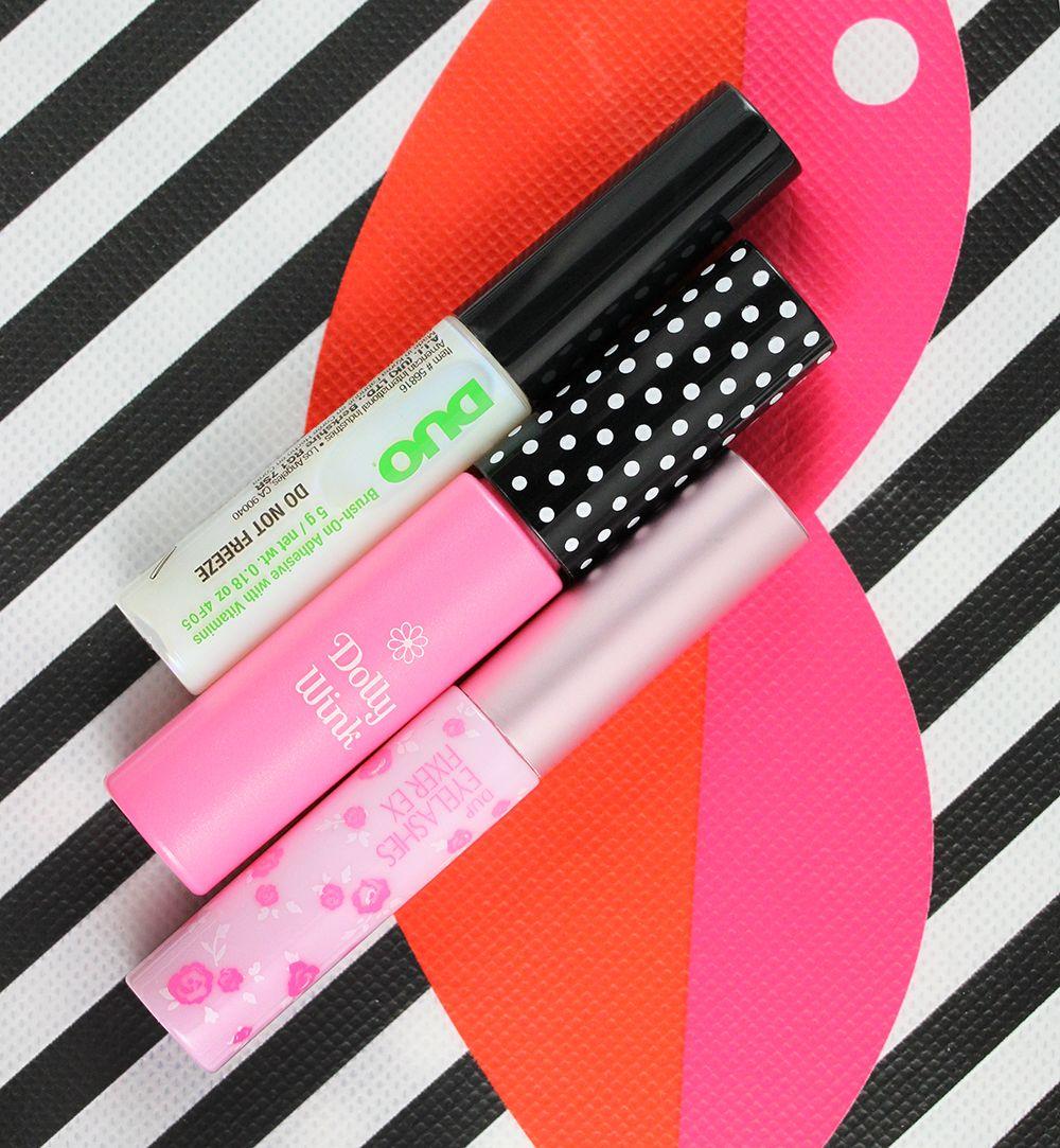 Top Bottom Duo Brush On Adhesive Dolly Wink Eyelash Fix Glue And