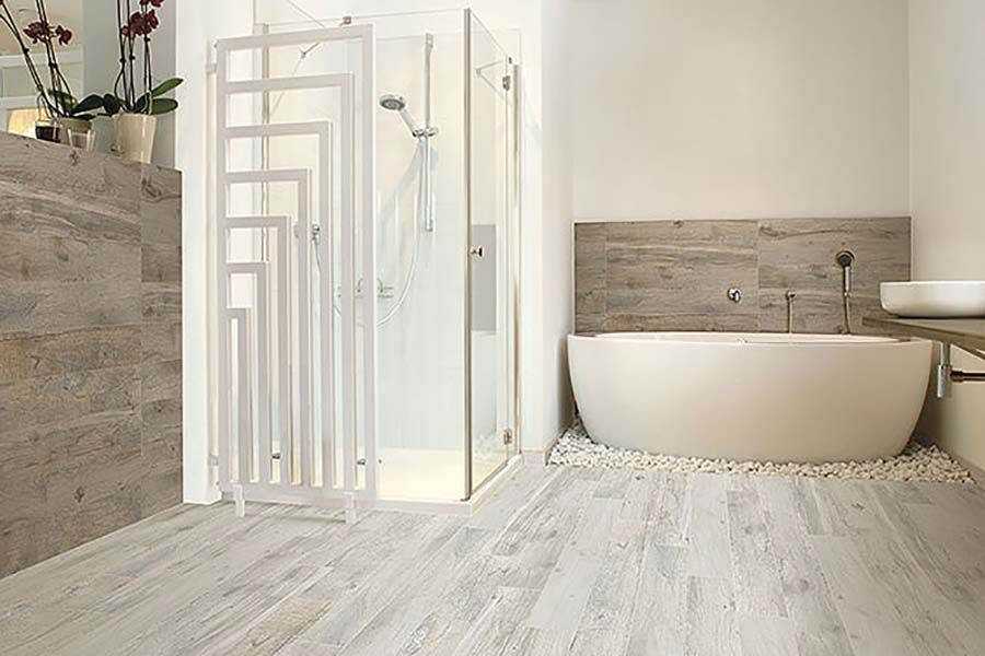 Memory Blanco whitewashed wood effect porcelain floor tiles - Memory Blanco Whitewashed Wood Effect Porcelain Floor Tiles