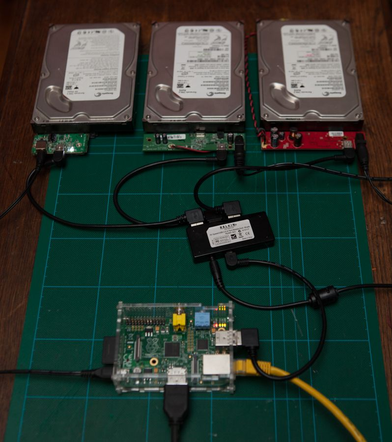 This mini-project uses a Raspberry Pi as a RAID array controller. Now it won't be the fastest raid controller on the planet, but if you're only doing a bit of streaming, and a bit of b…