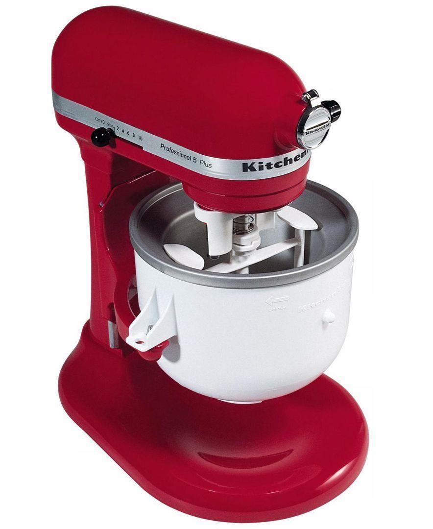 Ice cream maker stand mixer attachment kica0wh