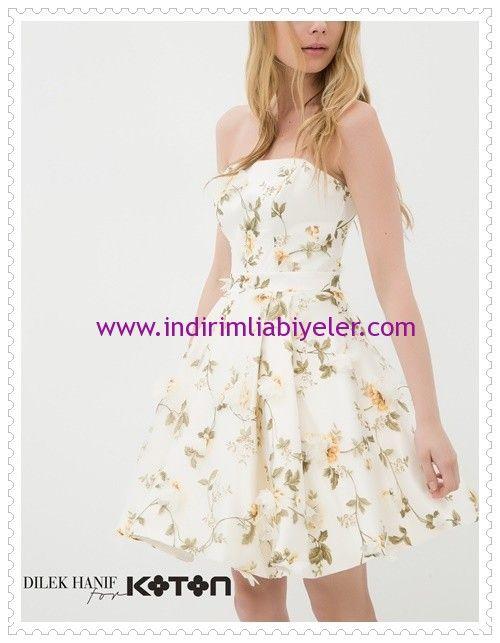 Dilek Hanif For Koton Cicekli Straplez Abiye Elbise Elbise Moda Stilleri Elbiseler