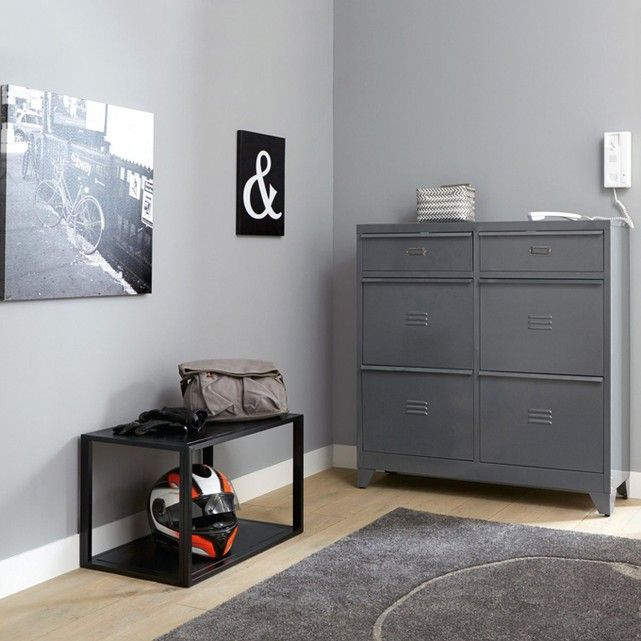 Hiba 4-drawer shoe cabinet in a very trendy  - meuble a chaussures grande capacite