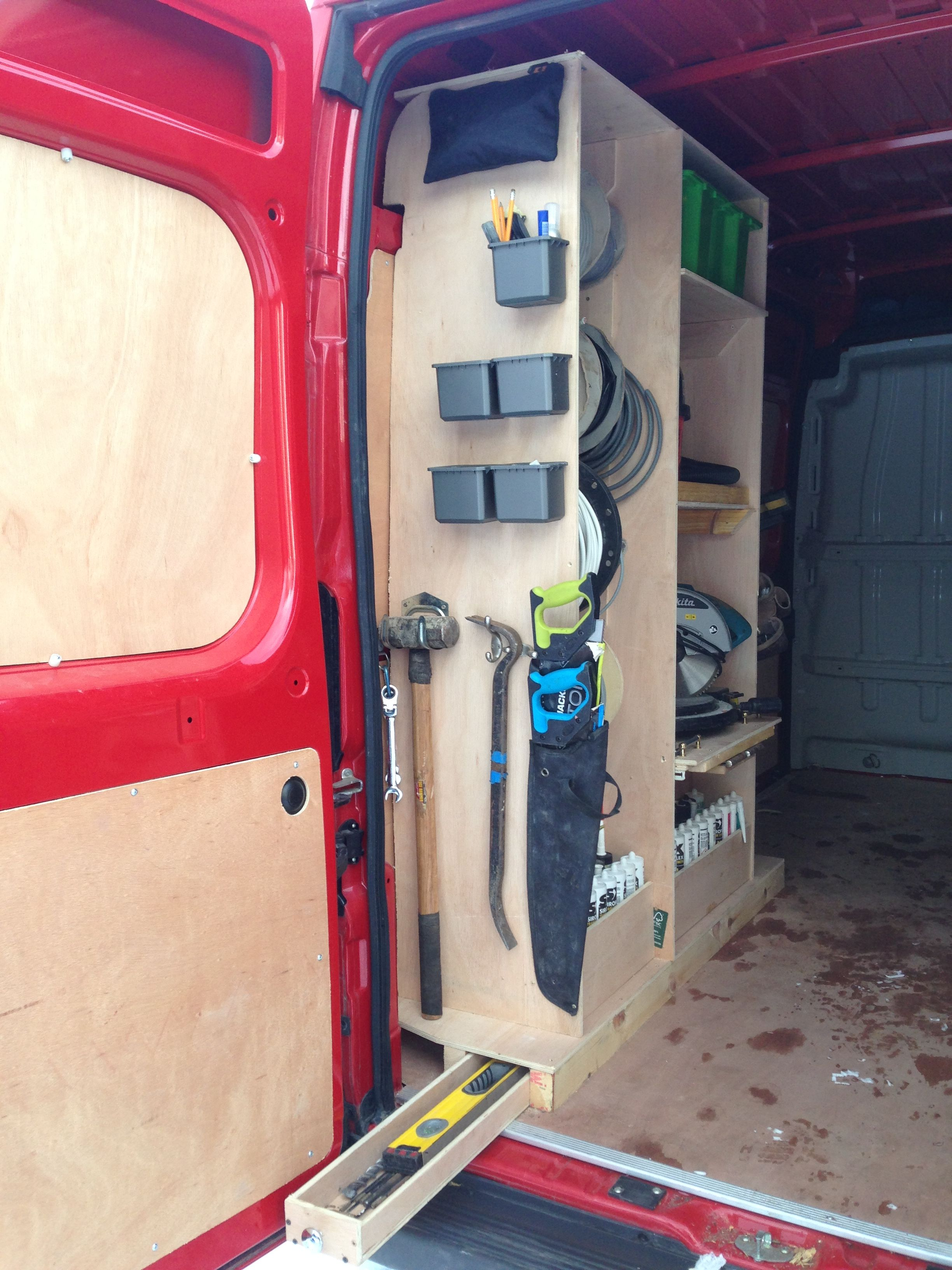 Drawer For Long Drill Bits Rods Level Etc Van Storage Van