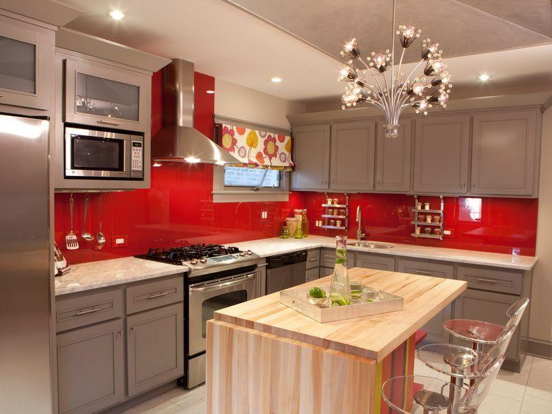 Cuisine rouge et grise qui incarne l\u0027idée d\u0027une vie moderne Red - Photo Cuisine Rouge Et Grise
