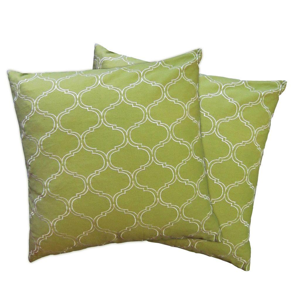 Lush Decor Trellis Zipper Throw Pillow Shell