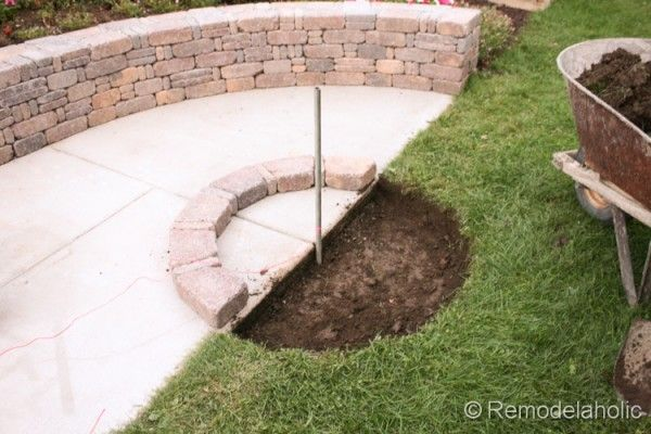 Awesome Diy RumbleStone Seat Wall And Fire Pit Kit Installation