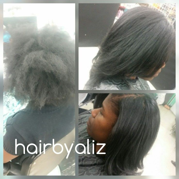 Silk Press On Black Hair By Aliz Adams At Denise Barrow Salon In San