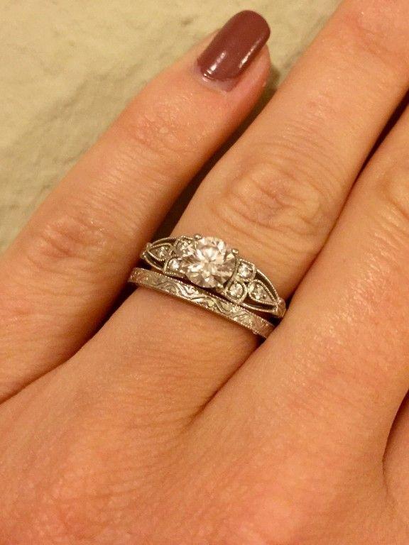 Hudson Wedding Ring 18K White Gold Romantic White gold and Weddings