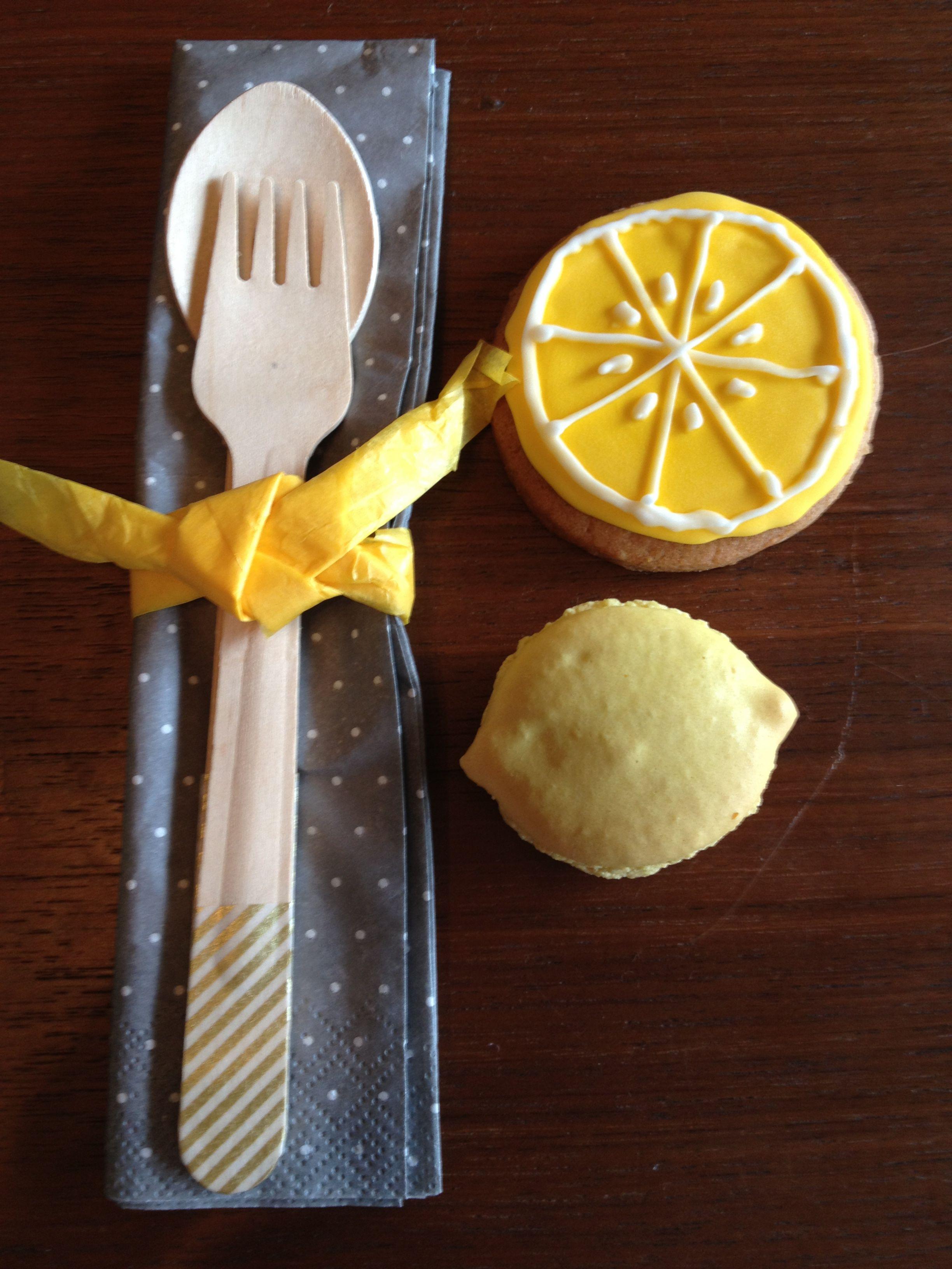 lemon cookie and macaron