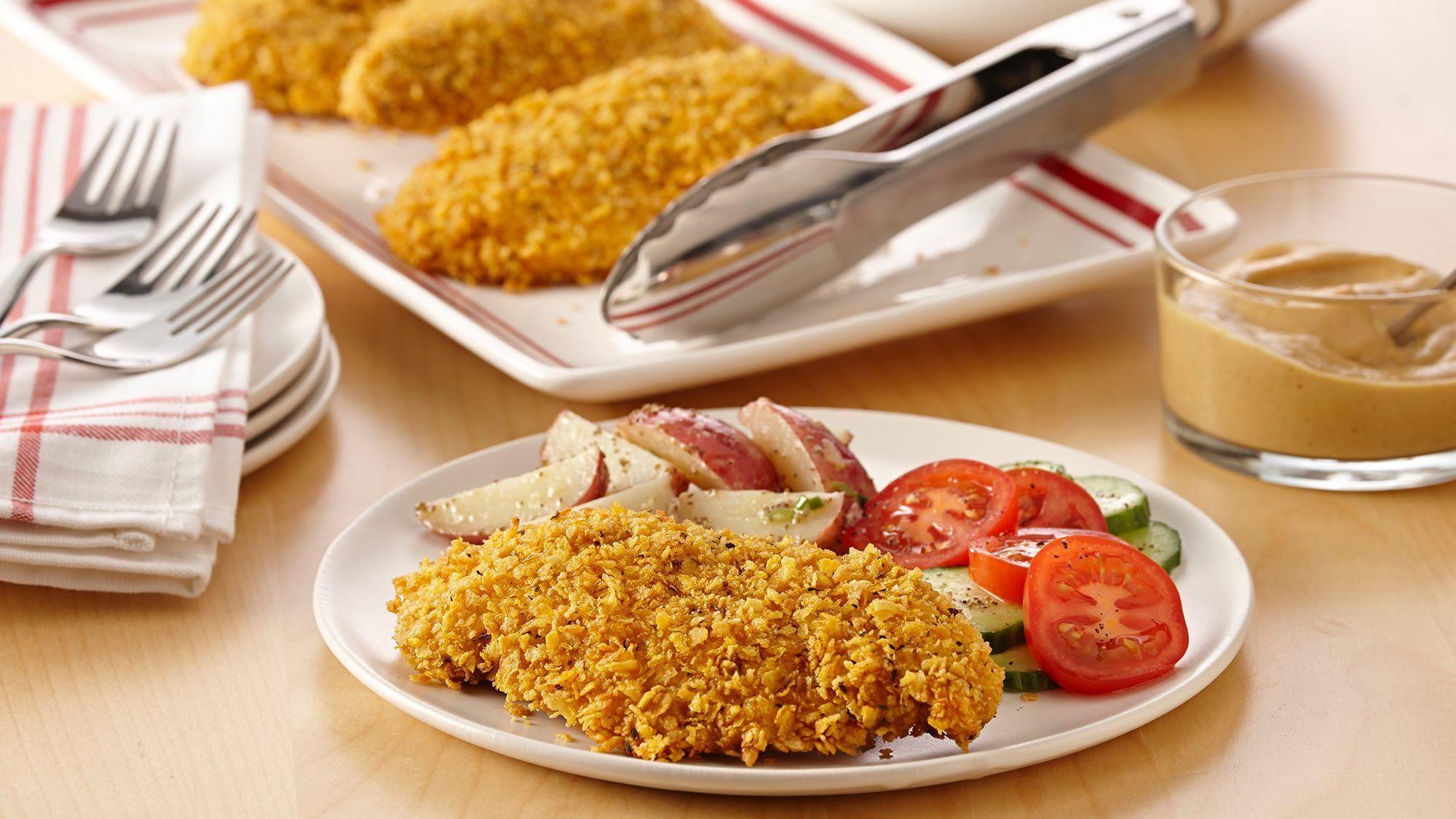 Glutenfree ovenfried chicken recipe fries in the