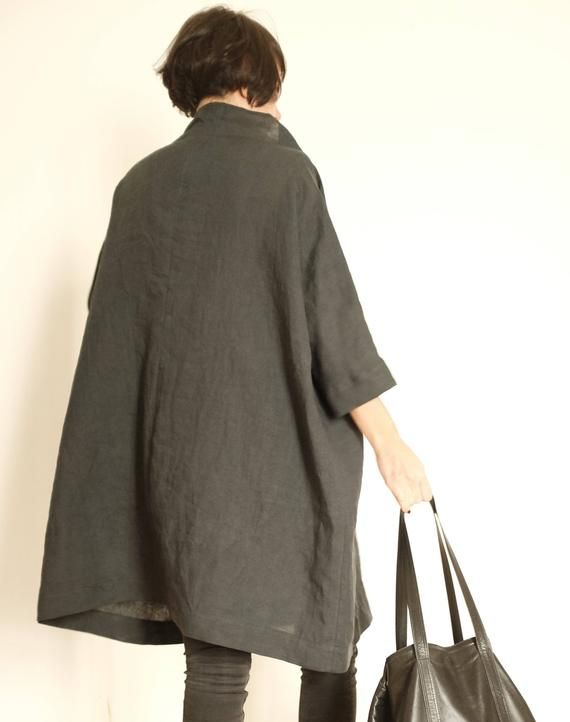 Linen Dress - Plus Size Clothing - Linen Tunic - Linen ...
